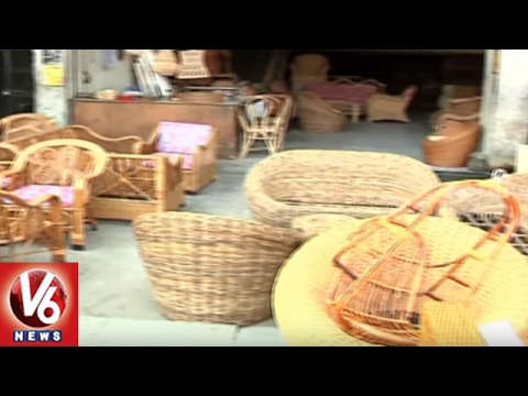Special Story On Cane Furniture Craze in Hyderabad | V6 News