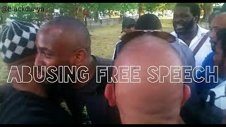 FIGHT BREAKS   DOES SA RA HAVE THE RIGHT TO INSULT THE PROPHET   BIG BRO   HUSSAIN   SPEAKERS CORNER