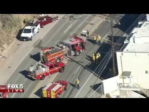 Major accident in Pacific Coastal Highway in Malibu