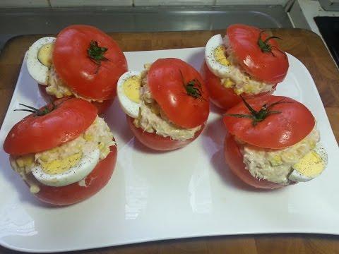 tomates-farcies,-crème-de-thon-et-maïs