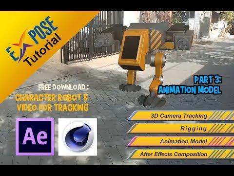 Tutorial Cinema 4D - Animation Robot 3 - Animation Model