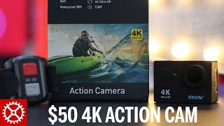 The ekan h9r is a ultra hd 4k action camera for budget concious person. coming in at around $50, i think this little video perfect budge...