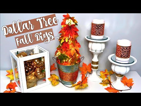 DOLLAR TREE FALL DECOR DIYs | 3 EASY IDEAS| CHIC ON THE CHEAP