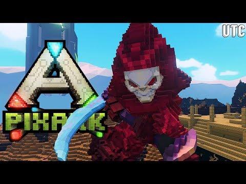 DOOM LANDS!! EXPLORING THE WORLD OF PIXARK!!! :: Pteranodon Exploration w/ Arahli :: PixArk Ep. 4