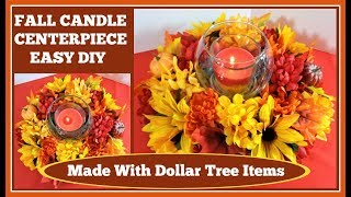 �Fall Candle Centerpiece �Easy DIY