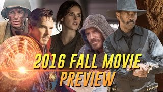 2016 FALL MOVIE PREVIEW (HD), Doctor Strange, Rogue One, Hacksaw Ridge