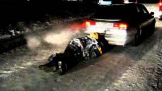WRC Rally Sweden 2011 - Drunk guys after SS Värmullsåsen . AEL Sweden Fans