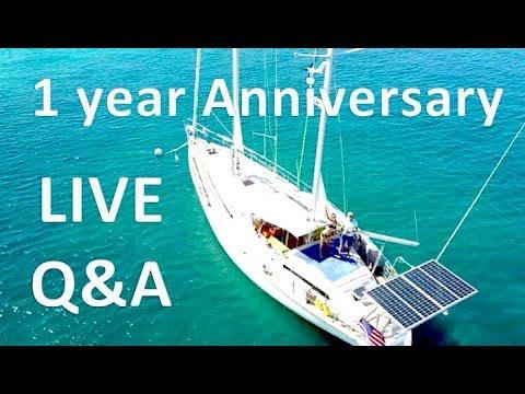 1 year living aboard Anniversary Q&A / FAQ / Sailing Aquarius #24