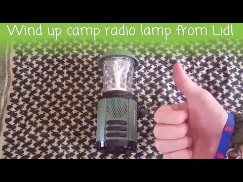 Wind up camp radio lamp from Lidl