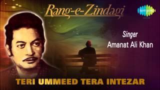 Teri Ummeed Tera Intezar | Ghazal Song | Amanat Ali Khan