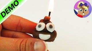"""SES Creative """"Výroba svíček""""   Vytvoř si emoji hovínko!   Sada pro děti"""