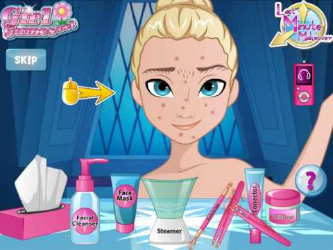 Мультик игра Холодное сердце: Успеть сделать макияж Эльзе (Elsa Last Minute Makeover)