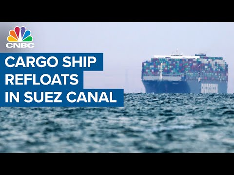Suez Canal traffic resumes after cargo ship is refloated