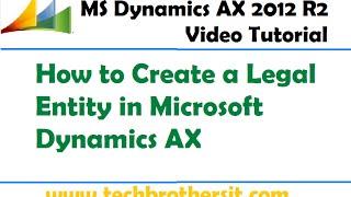 23-Microsoft Dynamics AX - How zu Schaffen eine Rechtliche Entität in Microsoft Dynamics AX