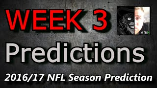 Week 3 - 2016 NFL Predictions