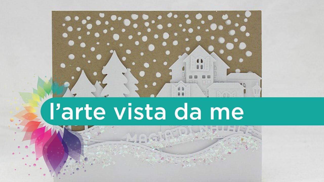 Preferenza Card Magia di Natale - Scrapbooking Tutorial- Natale Fai da te  QH54