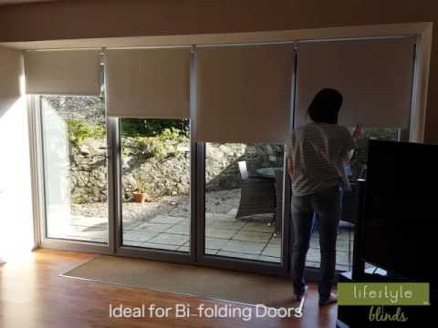 Spring Action Cordless Blinds for Your Bi-Folding Doors! - YouTube