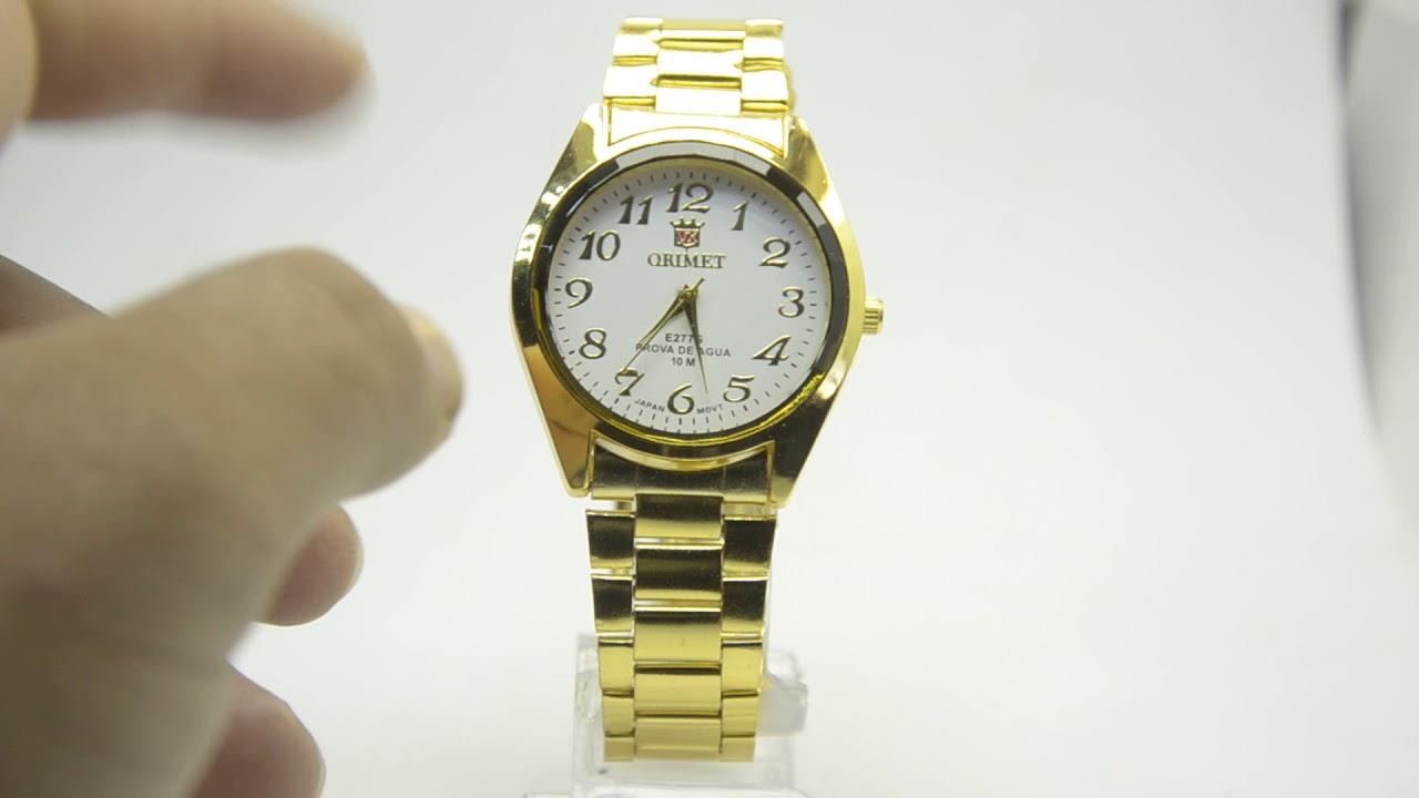 4a5303f1964 Relógio Feminino Pulseira Dourada Lindo Barato - YouTube