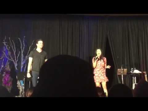 Gil McKinney and Karen David singing A Whole New World