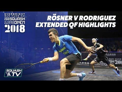Squash: MATCH OF THE SEASON CONTENDER - Rösner v Rodriguez - Hong Kong Open 2018