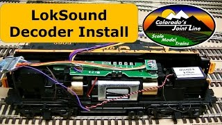 LokSound DCC Sound Decoder Installation in a HO Scale GP9