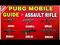 GUIDE :- ASSAULT RIFLE PUBG MOBILE (HINDI) | Assault Rifle guide | best attachments | best scope