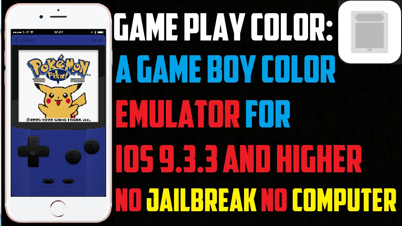 Gameboy color emulators - Game Play Color A Game Boy Emulator For Your Iphone Ipad Ios 9 3 3 No Jailbreak No Computer Youtube