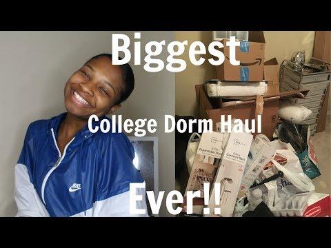 BIGGEST College Dorm Haul EVER (Rose Gold Theme) | 2017
