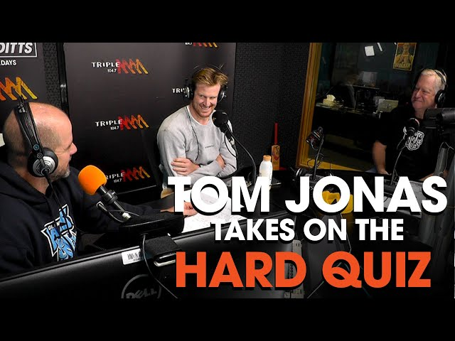 Tom Jonas Takes On The HARD QUIZ | Roo & Ditts | Triple M
