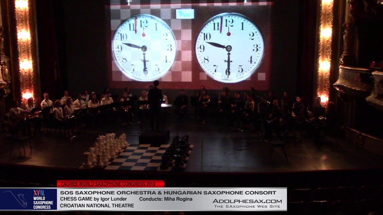 Chess Game by Igor Lunder    SOS & Hundarian Saxophone Ensemble   XVIII World Sax Congress 2018 #ado
