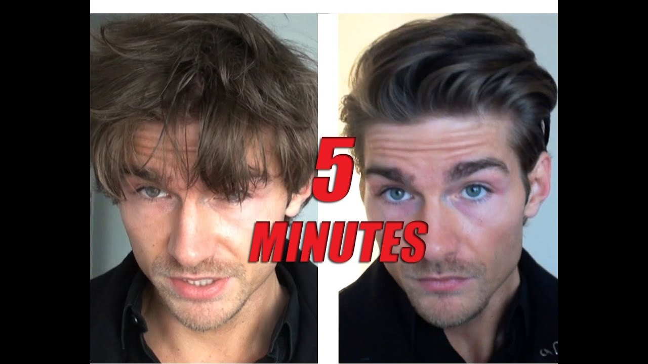 Men\'s Hairstyle Tutorial Male Model - How to - YouTube