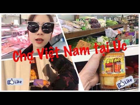 CUỘC SỐNG ÚC   Đưa Mẹ đi chợ Việt Nam - chợ St Albans ở Úc, mua từa lưa hột duaw