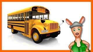 SCHOOL BUS: Bus videos for children. Kids Videos. Preschool & Kindergarten learning.