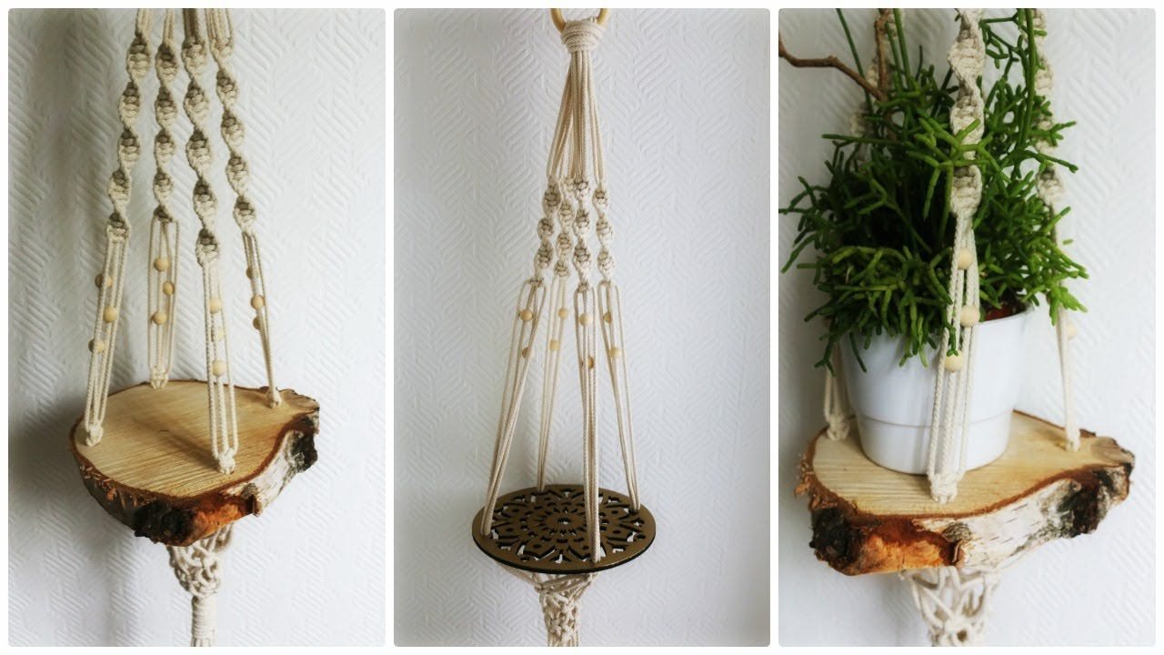 makramee blumenampel 3 diy macrame plant hanger eng sub youtube. Black Bedroom Furniture Sets. Home Design Ideas