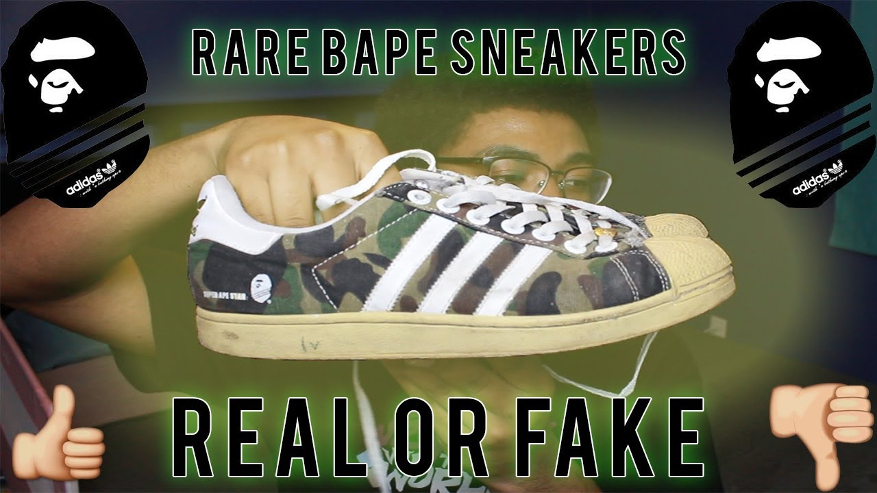 adidas super ape star fake