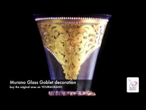 Murano Glass Goblet Decoration Handcrafted Piece Of Art In Venice