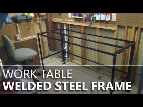 Making A Welded U0026 Bolted Steel Table Frame