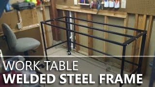 Making a welded & bolted steel table frame