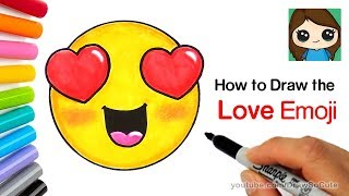 How to Draw the Love Emoji Easy