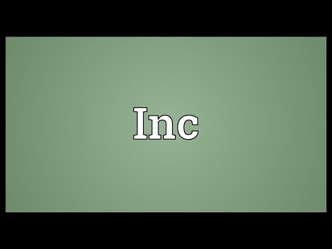 Inc Meaning