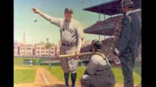"BABE RUTH'S ""CALLED SHOT"". THE EVIDENCE SAYS HE DIDN'T AND RUTH LATER ADMITTED IT."
