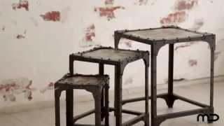 Nest Of Tables - Industrial Furniture - Vintage - Milan Direct