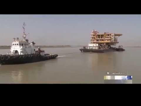 Iran made South Pars Gas condensate SPD 19 transfers for install حمل سكوي نوزده پارس جنوبي ايران
