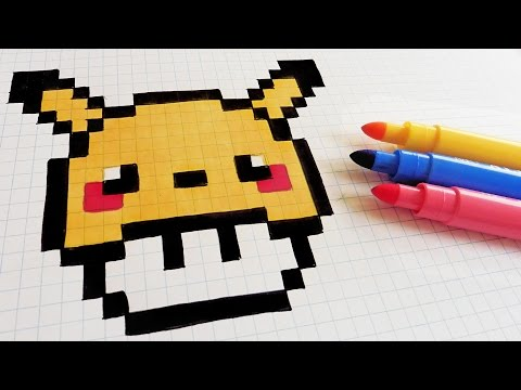 Handmade Pixel Art How To Draw Pikachu Mushroom Pixelart