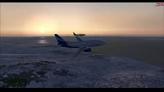 "Microsoft Flight Simulator X-Online ""Полет по сети"" ( три самолета)"