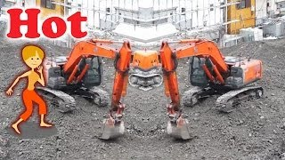 トランスフォーマーショベルカー 工事現場|Transformer Future Excavator