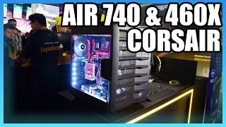 Corsair case Crystal Series 460X Tempered Glass, Compact ATX Mid