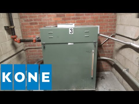 ROARING KONE Hydraulic Elevator Machine Room Tour