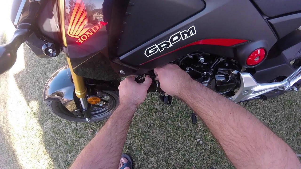 OTB Honda GROM Transparent Cam Cover Installation
