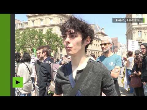 France : manifestation contre le géant agroalimentaire Monsanto